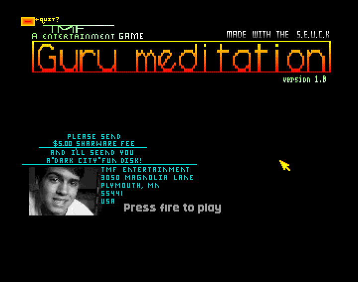 Guru Meditation loading picture